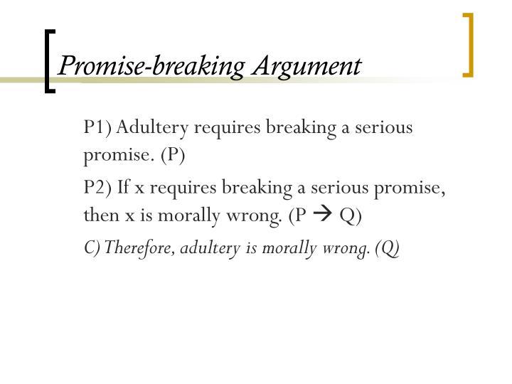 Promise-breaking Argument