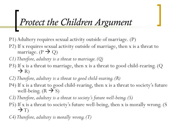 Protect the Children Argument