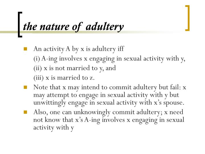 The nature of adultery