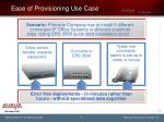 ease of provisioning use case