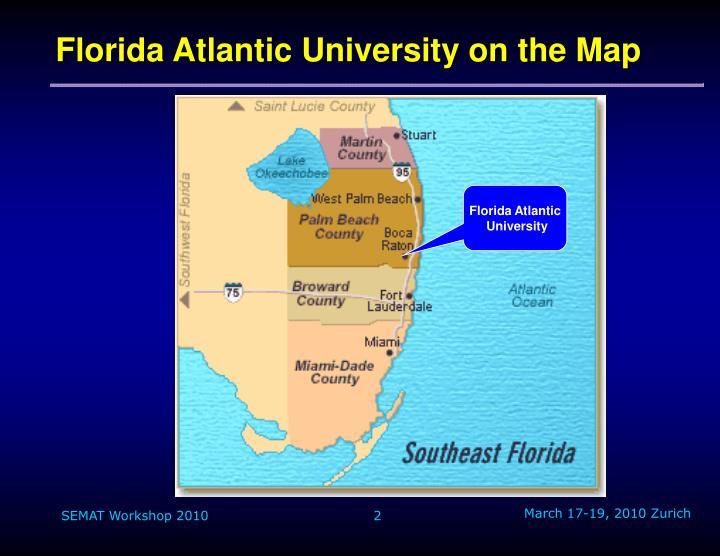 Florida atlantic university on the map