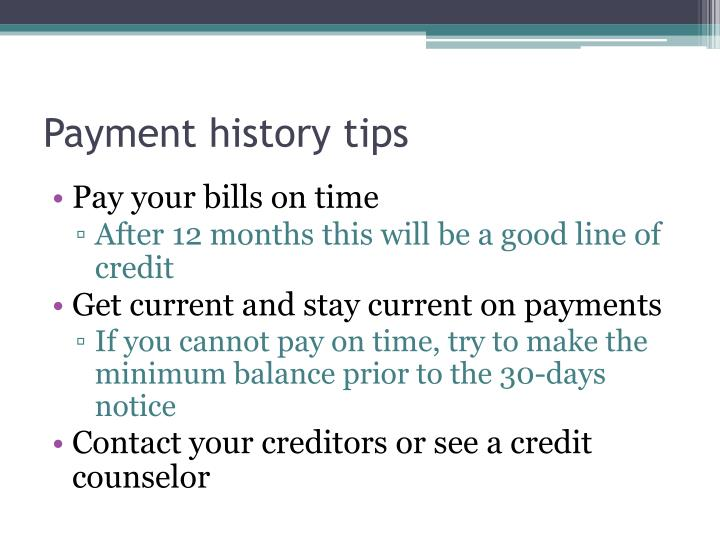 Payment history tips