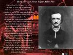 read the text about edgar allan poe