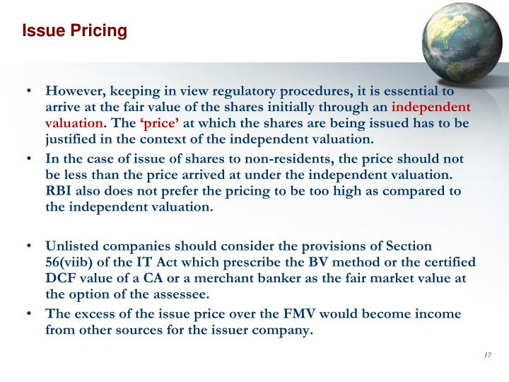 Issue Pricing