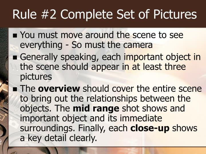 Rule #2 Complete Set of Pictures