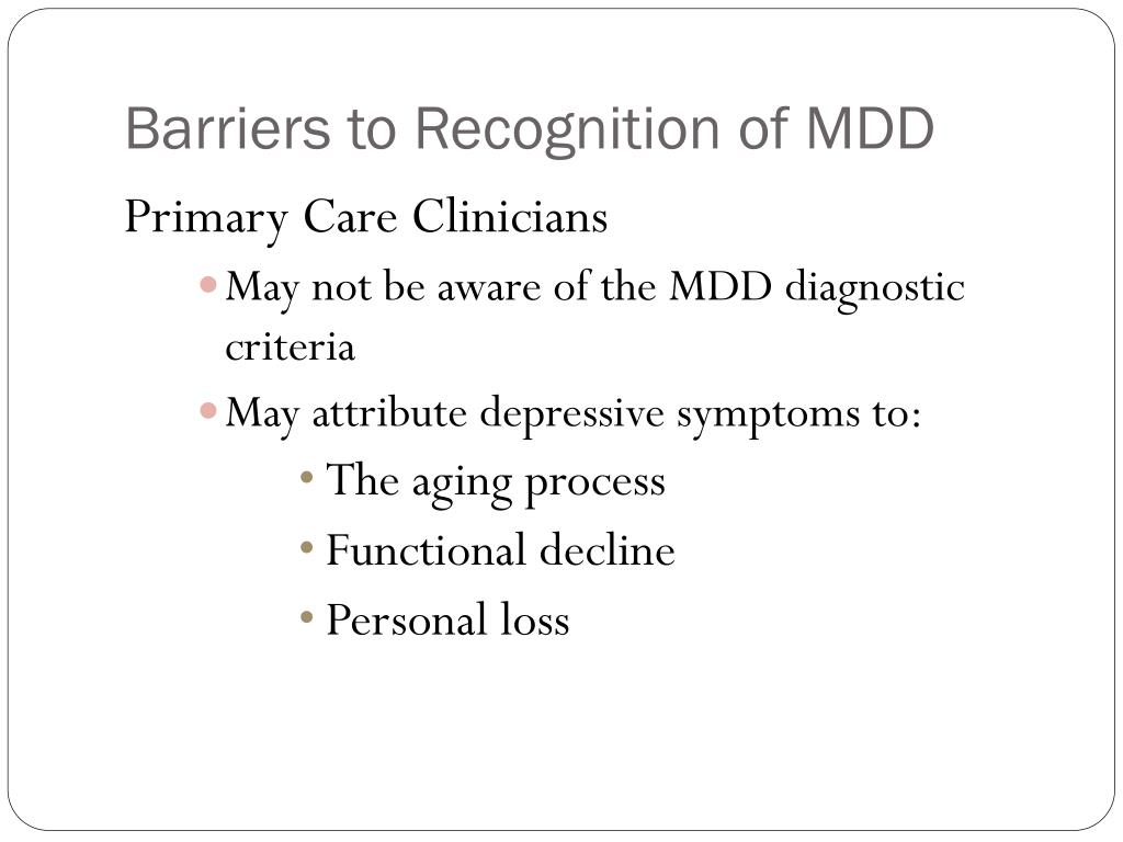 PPT - Depression in the Elderly: Recognition, Diagnosis ...