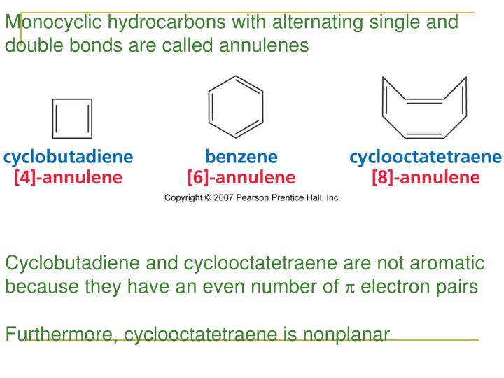 Monocyclic hydrocarbons with alternating single and