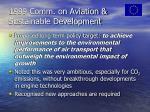 1999 comm on aviation sustainable development