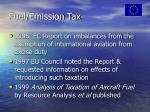 fuel emission tax
