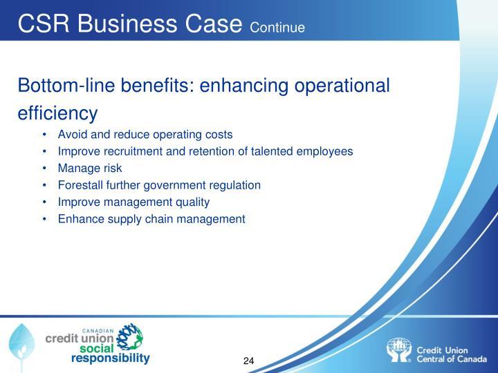 CSR Business Case