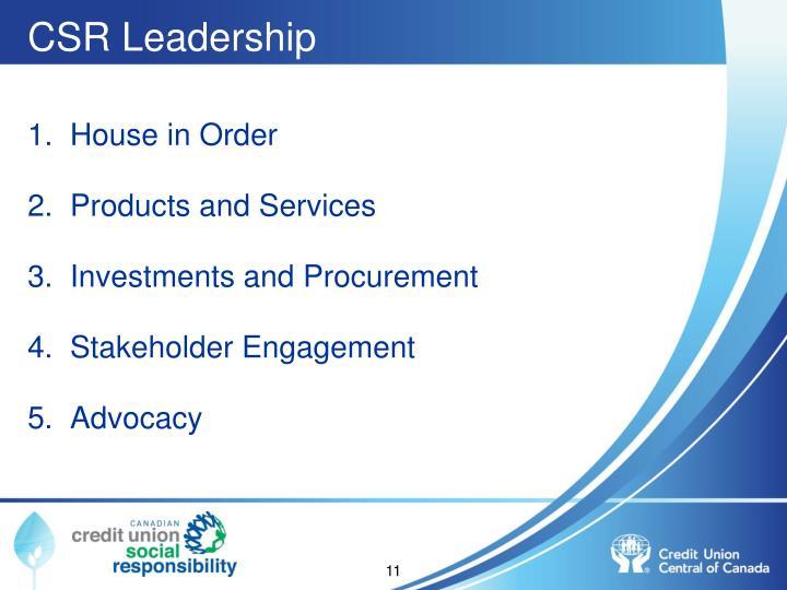 CSR Leadership