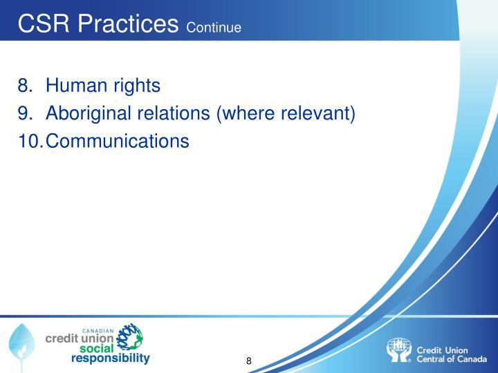 CSR Practices