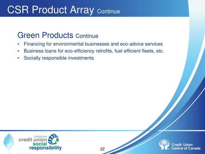 CSR Product Array