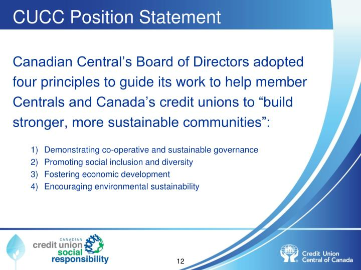 CUCC Position Statement