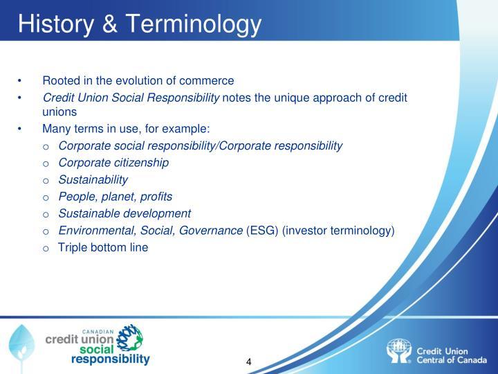 History & Terminology