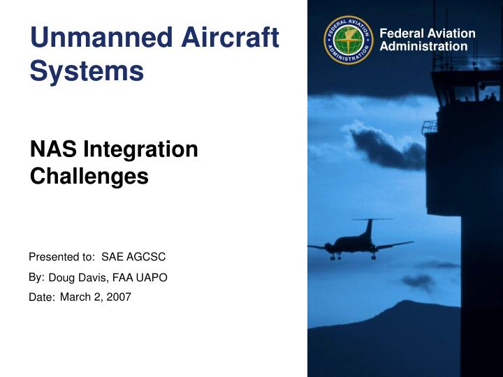 unmanned aircraft systems n.