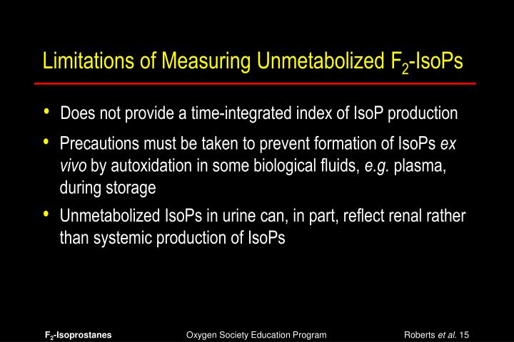 Limitations of Measuring Unmetabolized F