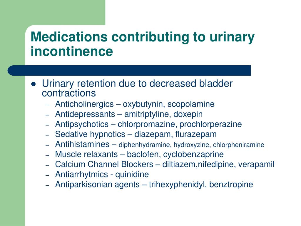PPT - Drugs and Urinary Incontinence PowerPoint ...
