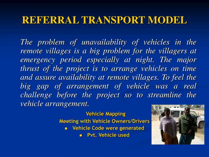 REFERRAL TRANSPORT MODEL