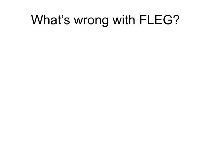 what s wrong with fleg n.