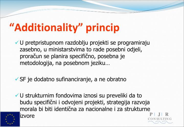 """""""Additionality"""" princip"""
