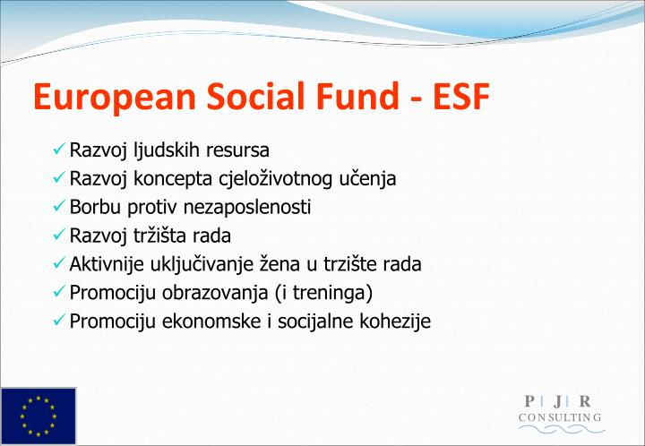 European Social Fund - ESF