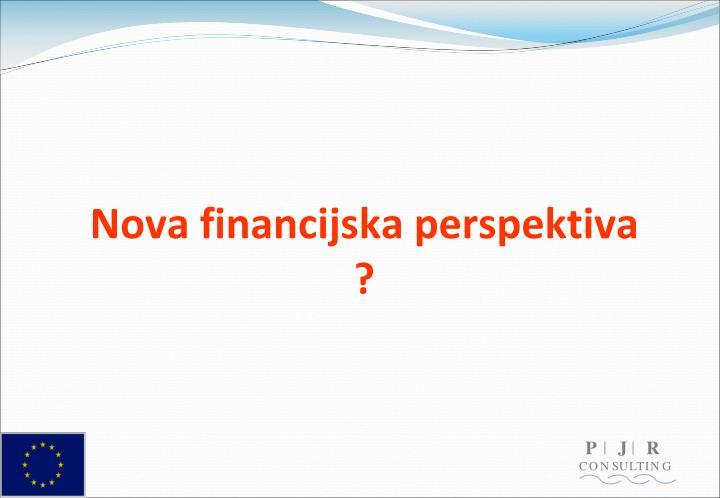 Nova financijska perspektiva