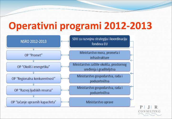 Operativni programi 2012-2013