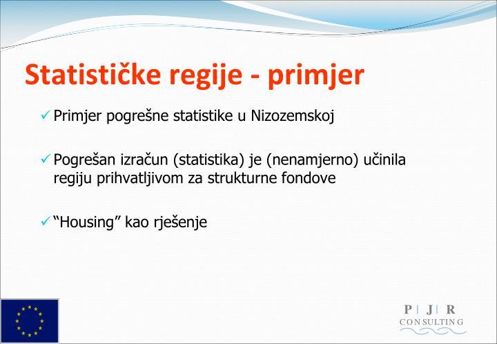 Statističke regije - primjer