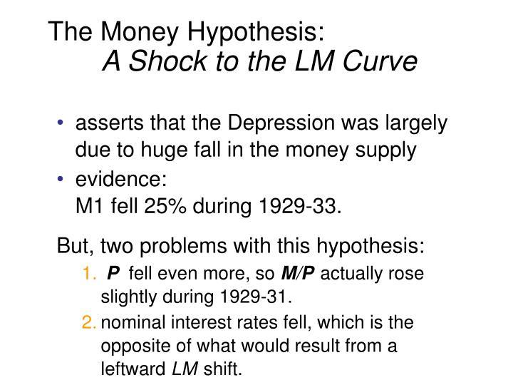 The Money Hypothesis: