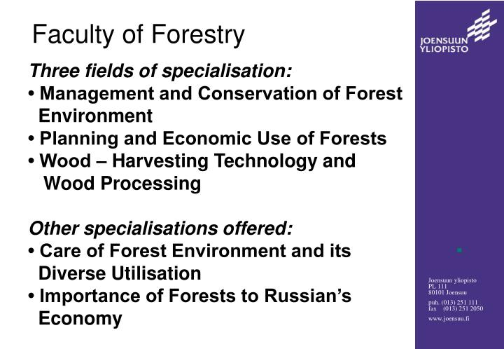 Faculty of Forestry