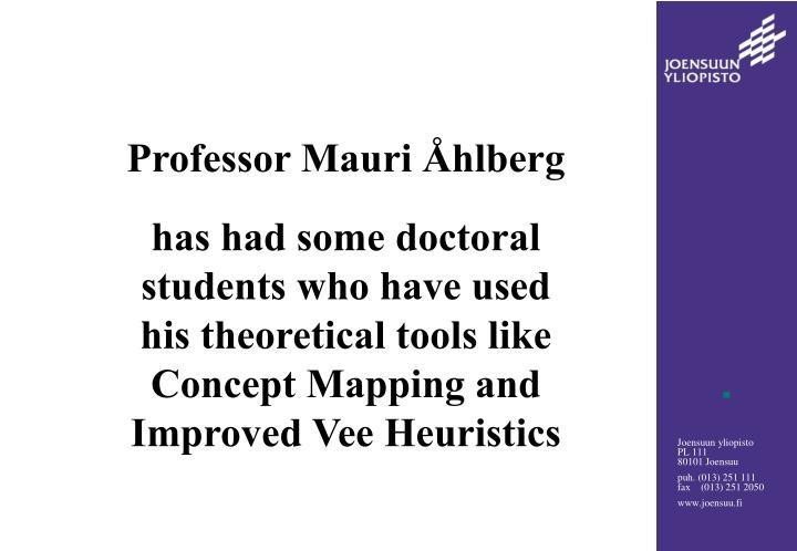 Professor Mauri Åhlberg