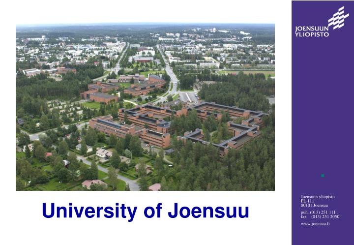 University of joensuu