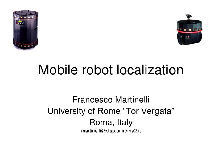 mobile robot localization n.
