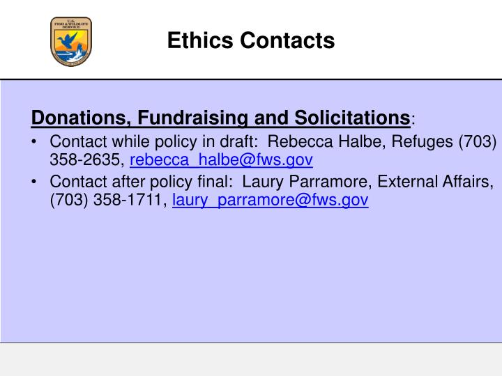 Ethics Contacts