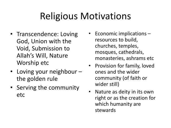 Religious Motivations