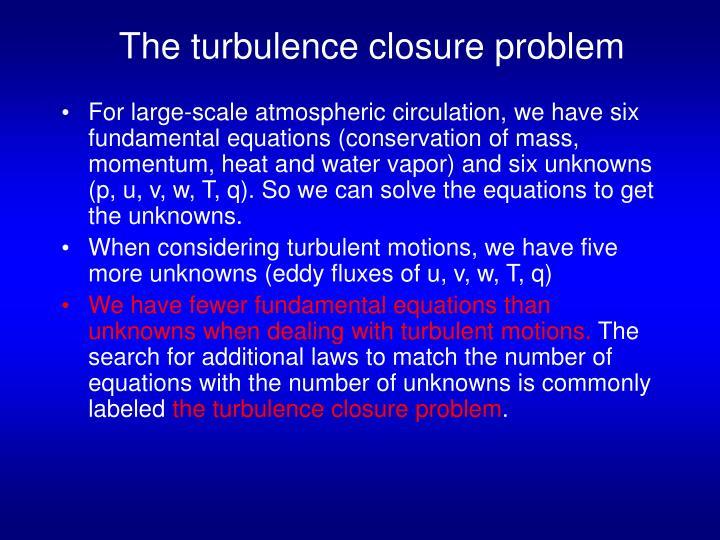 The turbulence closure problem