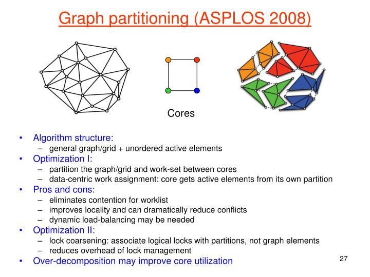 Graph partitioning (ASPLOS 2008)