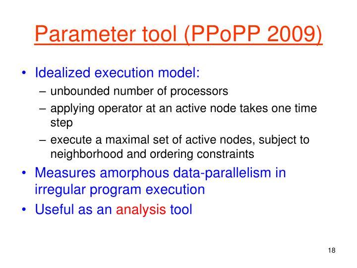 Parameter tool (PPoPP 2009)
