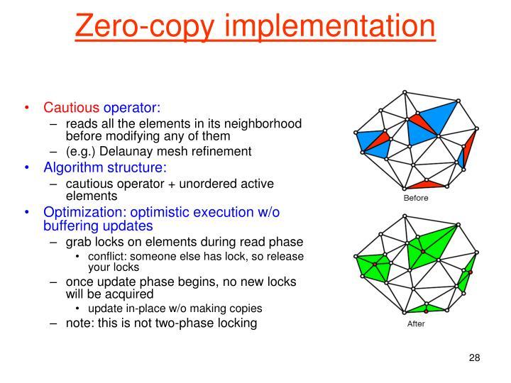 Zero-copy implementation