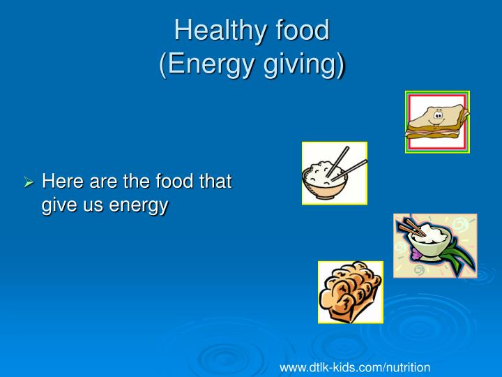 Healthy food energy giving