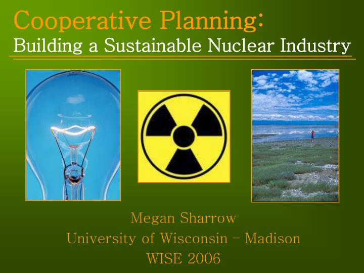 cooperative planning building a sustainable nuclear industry n.