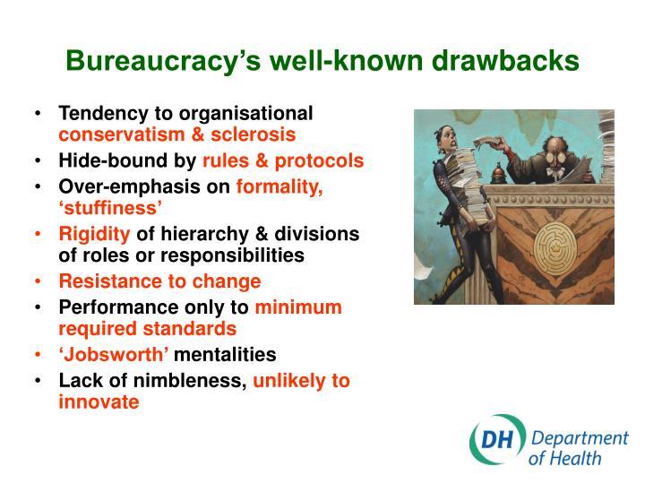Bureaucracy's well-known drawbacks