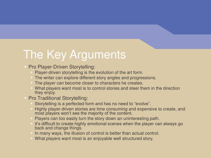 The key arguments