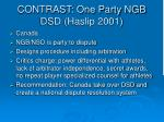 contrast one party ngb dsd haslip 2001