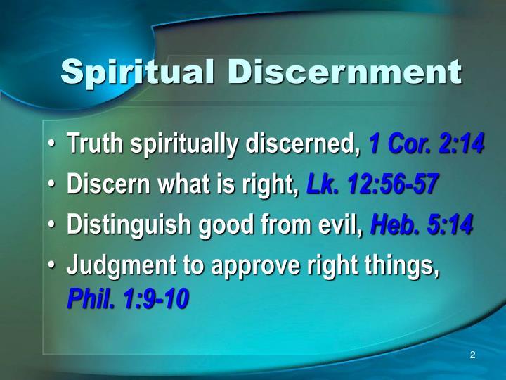 Spiritual discernment1