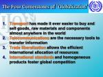the four cornerstones of globalization