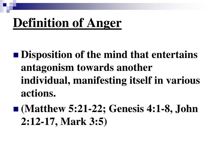 Definition of anger