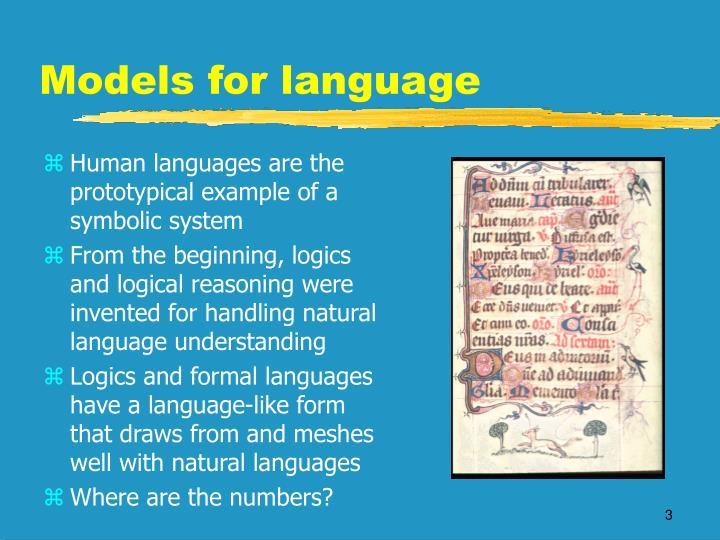 Models for language