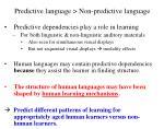 predictive language non predictive language